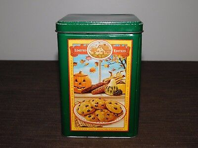 """VINTAGE 6 1/4"""" HIGH NESTLE TOLL HOUSE COOKIES & PARTY MIX   TIN BOX  *EMPTY*"""
