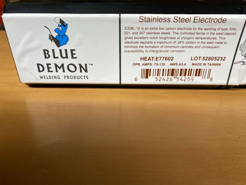 E308L-16 1/8 in 5 lb Stainless Steel Electrode Blue Demon