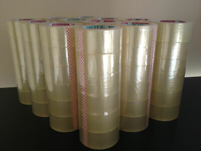 2x110 Yards 72 Rolls Clear Sealing Tape Packing Packaging Tapes Pickup Only