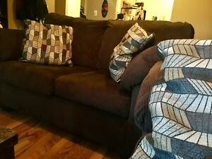 Priced To Sell! Great Cond. 'Ashley' couch and love seat set.