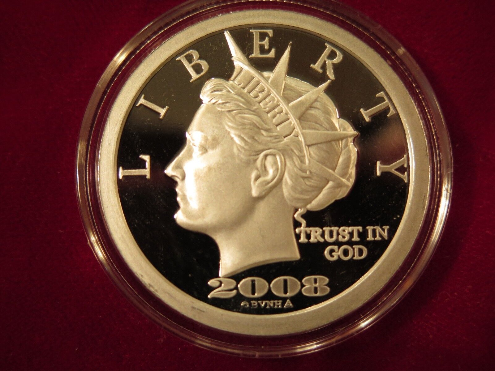2008 one ounce $50 norfed roun... Image 1