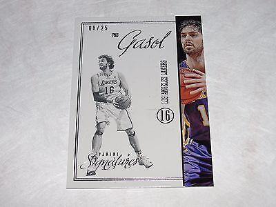 2012-13 Panini Signatures PAU GASOL #381 Stars Variant/25 Lakers - BULLS - Spurs