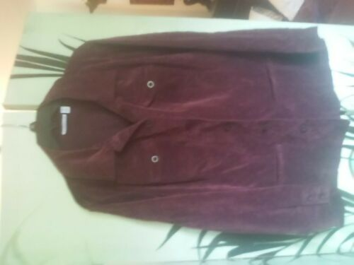 croft & barrow women's purple corduroy shirt jacket 1X