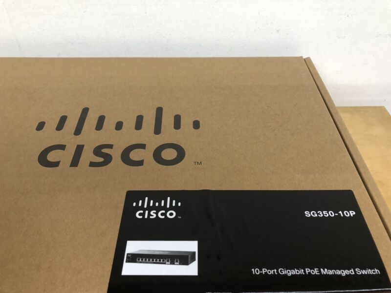 Cisco Sg350-10p 10-port Gigabit Poe Managed Switch.  Replacement For Sg300-10pp