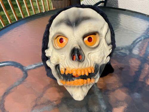 VTG Topstone Rubber Latex Skull Mask w/ Fur Hood 1970