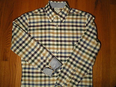 Brooks Brothers Regent Non-Iron Size S Plaid Shirt Contrasting Cuffs