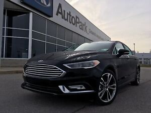 2017 Ford Fusion Titanium Heated and Cooled Leather Seats Nav...