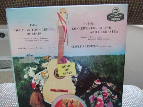 "ATAULFO ARGENTA, MUSIC of SPAIN. FALLA/RODRIGO pre-recorded 7"" REEL-TO-REEL TAPE"
