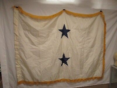 flag1011 US Navy 2 Star Rear Admiral White with Gold fringe flag W10F