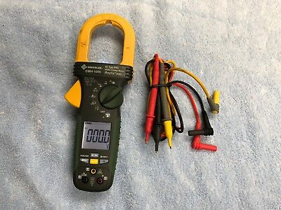 Greenlee Cmh-1000 Ac True Rms Hvac Clamp Meter 1000 Amps Amptip Jaws