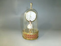 German Automaton Musical Alarm Clock Reuge Dancing Music Box ( Watch The Video )