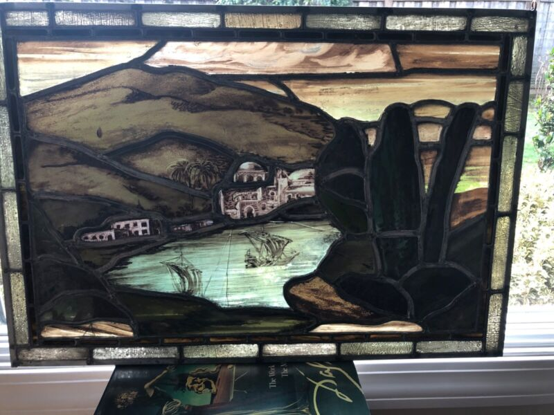 19th Century Hand Painted Leaded Stained Glass