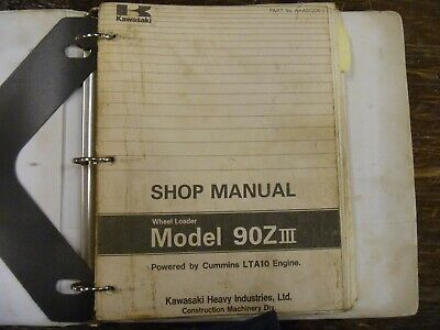 Kawasaki 90ziii Wheel Loader Factory Shop Service Repair Manual