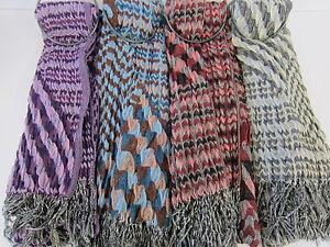 Donna-90750-Multicolore-da-sciarpa-collezione-4-COLORI-DISPONIBILI