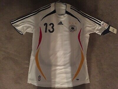 5200660e2 NWT Adidas Germany 100% Original Soccer football Jersey Shirt WC2006 L