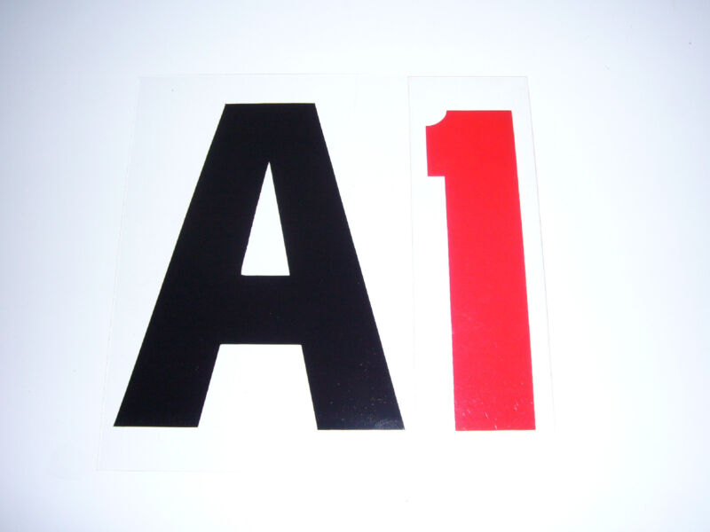 """4"""" on 5"""" 060 336 RIGID/HI IMPACT CHANGEABLE SIGN LETTER"""