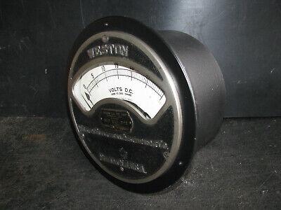1901 Lg Weston 24 Volt Meter 0-30 Vdc -works- Railroad Industrial Gauge Antique