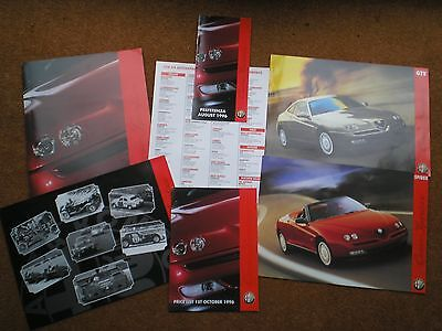 Alfa Romeo Spider and GTV  Brochures / Spec Sheets / Sales Pack - 1996
