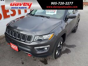 2017 Jeep Compass Trailhawk 4X4, REMOTE STARTER, BACK UP CAMERA