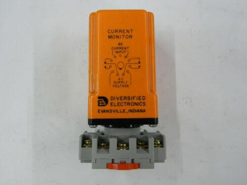 New Diversified Electronics Current Monitor CM0-120-ASA-10 W/ Din Rail Base  N3