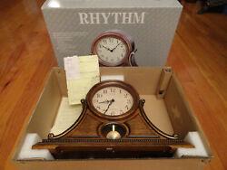Rhythm Clocks uscany IWooden Musical Mantel Clock 6 melodies & 3 Xmas