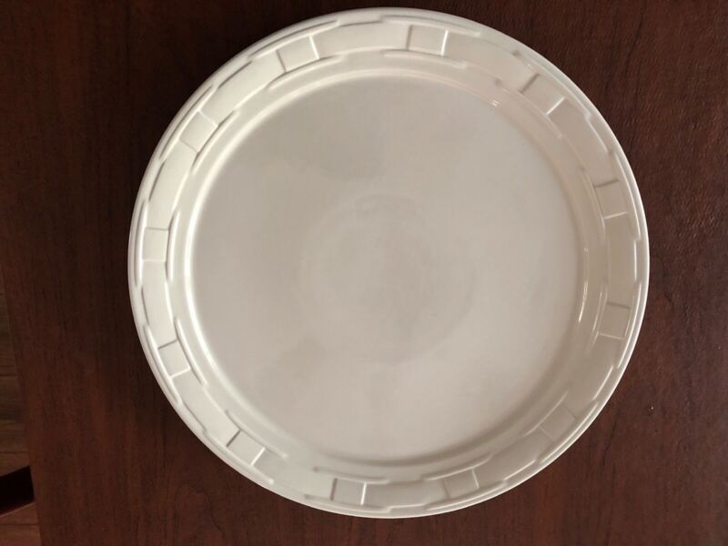 """Longaberger Woven Traditions Heirloom Ivory Cake Plate 14.5"""" Made In USA -  NEW"""