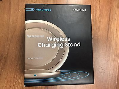 Inbox New Samsung Fast Charge Wireless Qi Charging Stand Afc Wall Charger  Gold