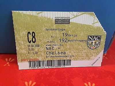 Football Ticket -  UEFA - NAC - Chelsea FC - 2000