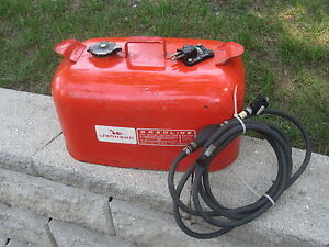 Metal 6 Gal Johnson Evinrude Outboard Motor Fuel Gas Tank
