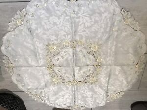 Lovely Round embroidered tablecloth