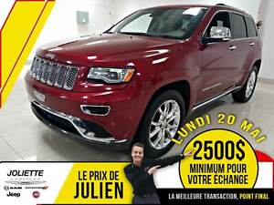 2015 Jeep Grand Cherokee Summit, 4X4, DIESEL, TOIT, CUIR, NAV.