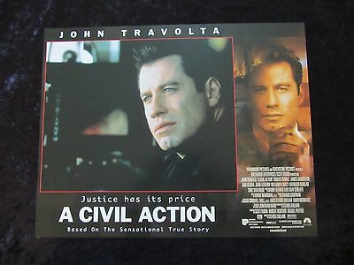 A Civil Action lobby cards - John Travolta, Robert Duvall
