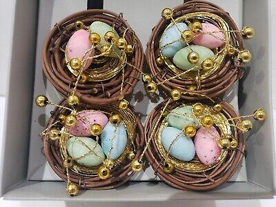 Kim Seybert Easter Nest Egg Napkin Rings Set of 4 (AS IS)