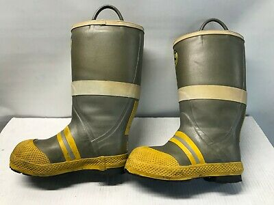 Arff Aircraft Rescue Fire Fighting Boots Steel Toe Mens Us Size 10w Turnout