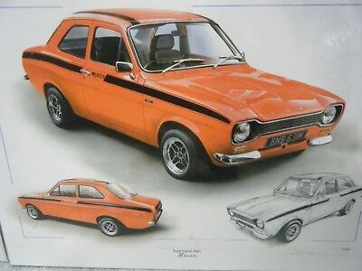 FORD ESCORT MEXICO STUNNING LIMITED EDITION PRINT CHRIS DUGAN NEW FOR THIS YEAR