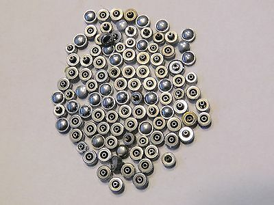 Watch crowns waterproof etc-stainless steel, steel color lot of 100+pcs  2-4mm