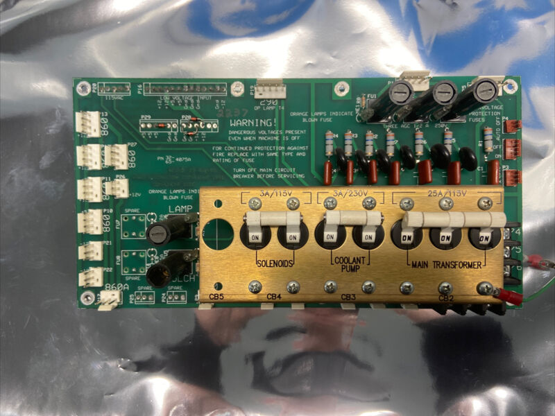 Haas Automation Control Board Rev B 4075A 32-4075A 65-4075A Power Distribution