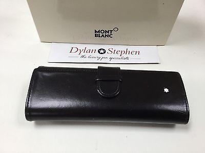 montblanc meisterstuck black leather pen pouch excellent condition