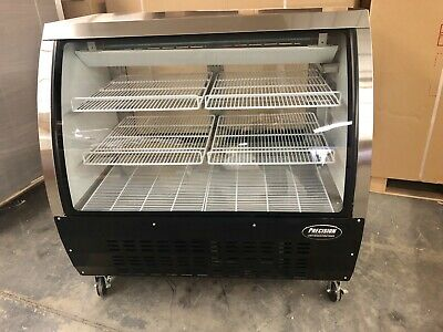 Deli Case Black 48 Show Case Refrigerator Cooler Meat Pastry Bakery Display 4