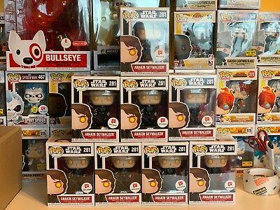 FUNKO POP! STAR WARS ANAKIN SKYWALKER #281 DARK SIDE WALGREENS EXCLUSIVE BUBBLE