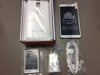 NEW Samsung Galaxy Note 3 SM-N900A 32GB White GSM Unlocked  Open Box