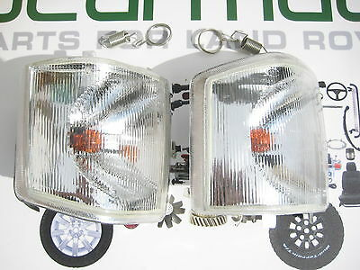LAND ROVER DISCOVERY 1, FRONT CLEAR INDICATOR LIGHTS LAMPS, 94-98, AMR6512W,11W