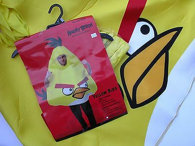 NEW NWT Halloween Costume Angry Bird Red Yellow Adult One Size](Angry Bird Adult Costume)