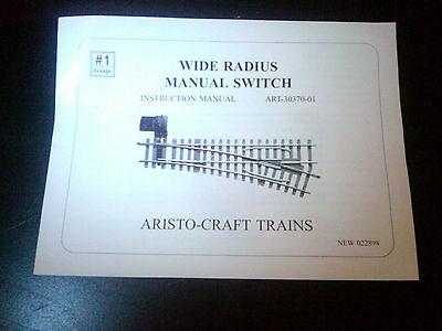 ART 30370-01: Aristo-Craft Wide Radius Manual Switch Instruction Manual