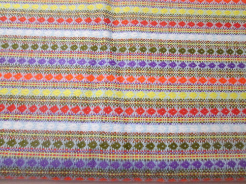 Vintage Fabric Multi Color Diamond Design Poly Blend 2 3/8 Yards 54""