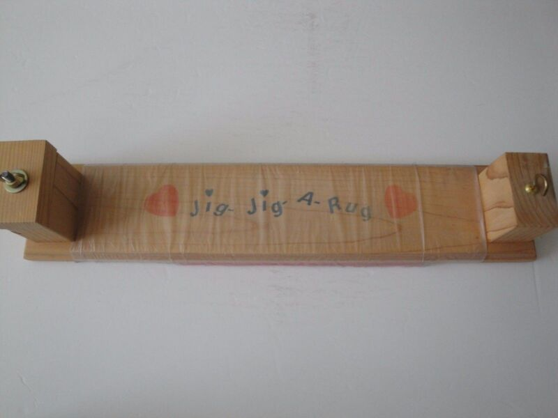 Rug Making Jig Wood Jig Jig A Rug With Instructions Rug Weaving Hand Crafted