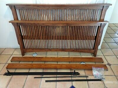 Classic California King craftsman-style Headboard, Footboard, complete bed frame California King Headboard Footboard