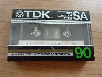 TDK SA 90 audiokassette cassette audio tape sealed
