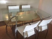 Glass top dining table  and four chairs - free Balgowlah Manly Area Preview