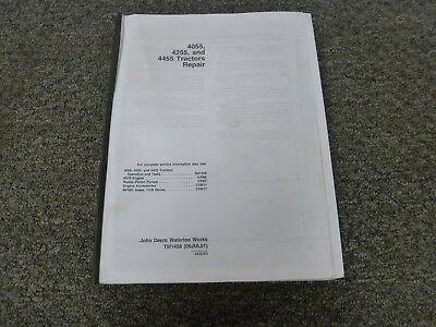 John Deere 4055 4255 4455 Tractor Shop Service Repair Technical Manual Tm1458